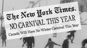 'No carnival' signage